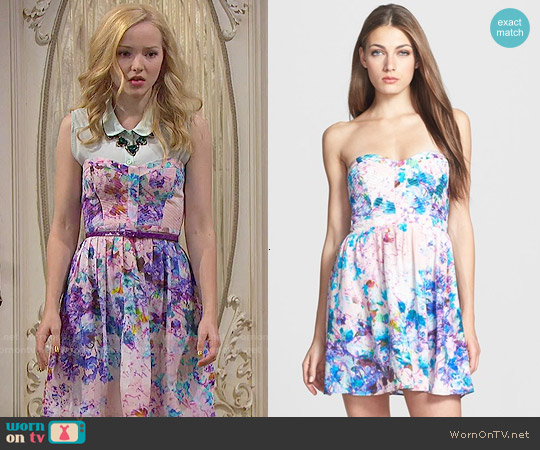 Parker Lily Dress in Monet worn by Dove Cameron on Liv & Maddie