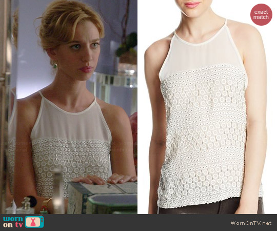 Parker Mari Top in Pearl worn by Yael Grobglas on Jane the Virgin
