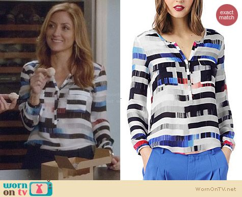Parker Marissa Blouse in Column worn by Sasha Alexander on Rizzoli & Isles