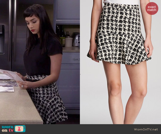 Parker McKenna Houndstooth Skirt worn by Mandy Baxter on Last Man Standing