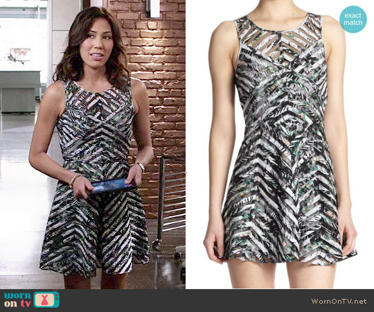Parker Mirabella Dress in Fresh Water Amazon worn by Michaela Conlin on Bones