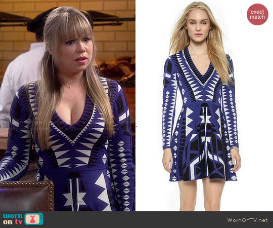 Parker Napa Knit Dress in Emporer worn by Amanda Fuller on Last Man Standing