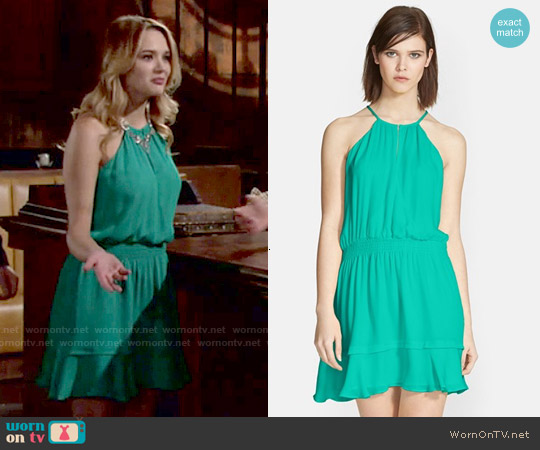 Parker Nathan Dress in Laguna worn by Hunter King on The Young & the Restless