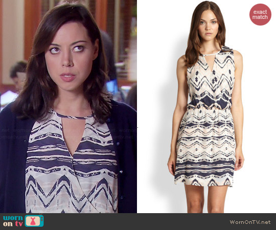 Parker Suri Dress in Shadow worn by Aubrey Plaza on Parks & Rec