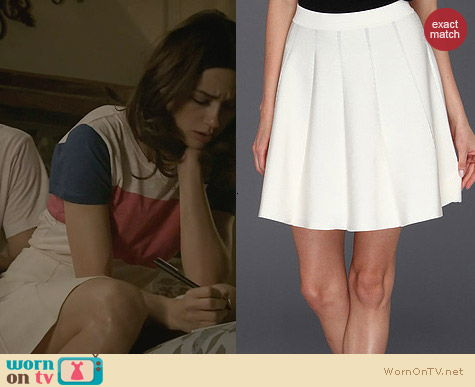 Parker Zoey Skirt in White worn by Crystal Reed on Teen Wolf