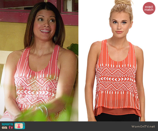 Parker Zuma Tank in Blazing worn by Andrea Navedo on Jane the Virgin