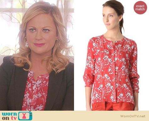 Parks and Rec Fashion: A.L.C. Molly blouse worn by Amy Poehler