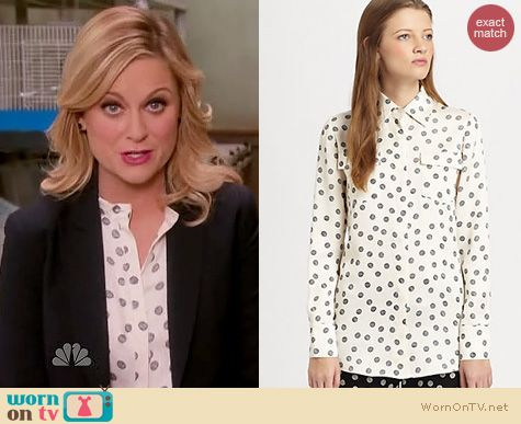 Parks & Rec Fashion: 10 Crosby by Derek Lam Yarn dot shirt worn by Amy Poehler
