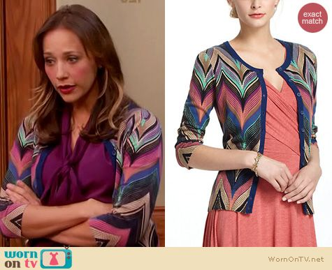 Parks and Rec Fashion: Anthropologie Seared Chevrons Cardigan worn by Rashida Jones