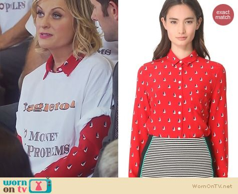 Parks & Rec Fashion: Boy By Band Of Outsiders Sailboat Shirt worn by Amy Poehler