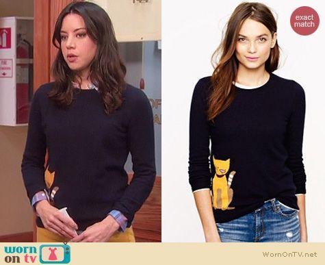 Parks & Rec Fashion: J. Crew Tabby sweater worn by Aubrey Plaza