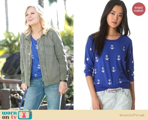 Parks & Rec Fashion: Madewell Anchors and dots pullover worn by Amy Poehler