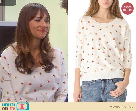 Parks & Rec Fashion: Madewell Rosebud Pullover worn by Rashida Jones