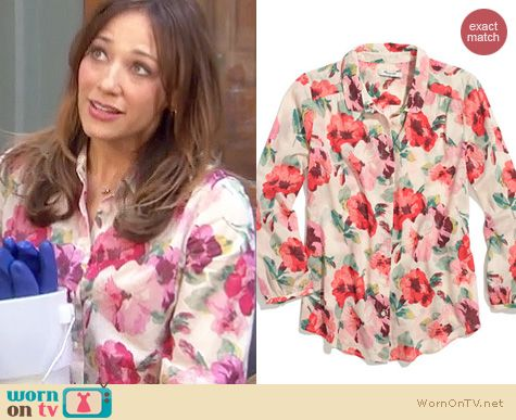 Parks and Rec Fashion: Madewell Tearose blouse worn by Rashida Jones