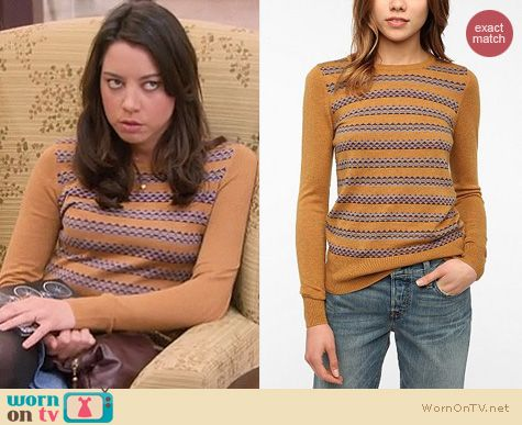 Parks & Rec Fashion: Urban Outfitters Coincidence and Chance Jane sweater worn by April Ludgate