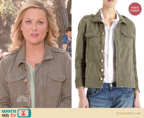 Parks & Rec Fashion: Current/Elliot Battalion jacket worn by Amy Poehler