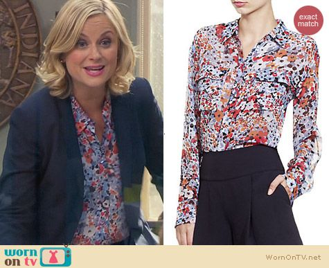Parks & Rec Fashion: Equipment Americana Floral Shirt worn by Leslie Knope