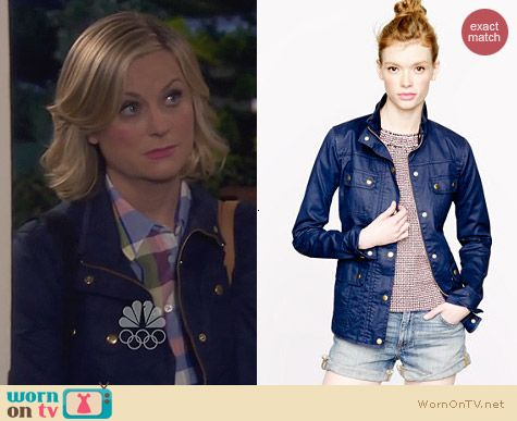Parks & Rec Fashion: J. Crew The Downtown Field Jacket worn by Amy Poehler