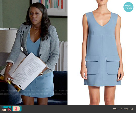 P.A.R.O.S.H. Lakix Shift Dress worn by Aja Naomi King on HTGAWM