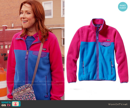 Patagonia Full Zip Snap-T Fleece Jacket worn by Ellie Kemper on Unbreakable Kimmy Schmidt