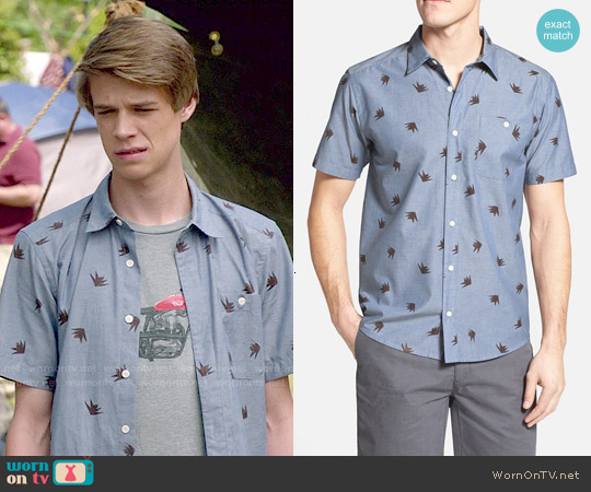 Patagonia 'Go To' Slim Fit Short Sleeve Sport Shirt worn by Colin Ford on Under the Dome