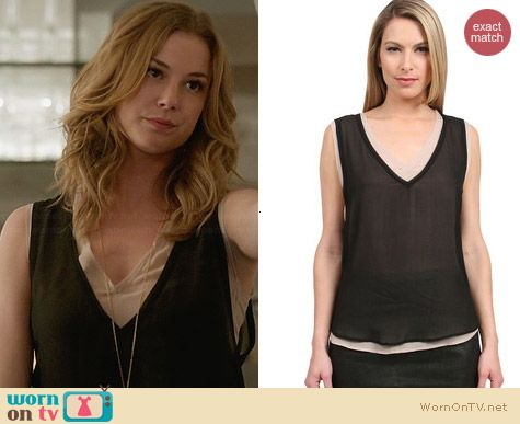 Patterson J Kincaid McCarthy Top worn by Emily VanCamp on Revenge