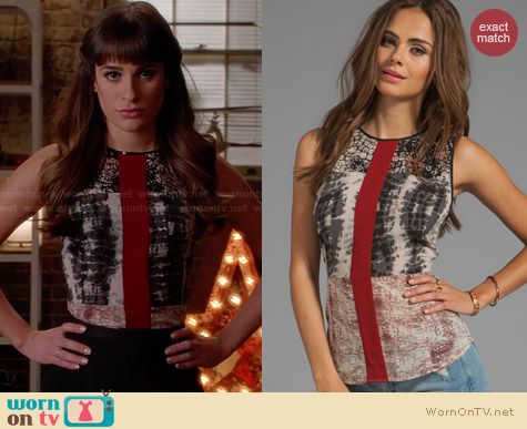 Patterson J Kincaid Rally Tank worn by Lea Michele on Glee