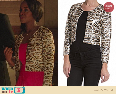 Patterson J Kincaid Winslow Leopard Jacket worn by Aja Naomi King on HTGAWM