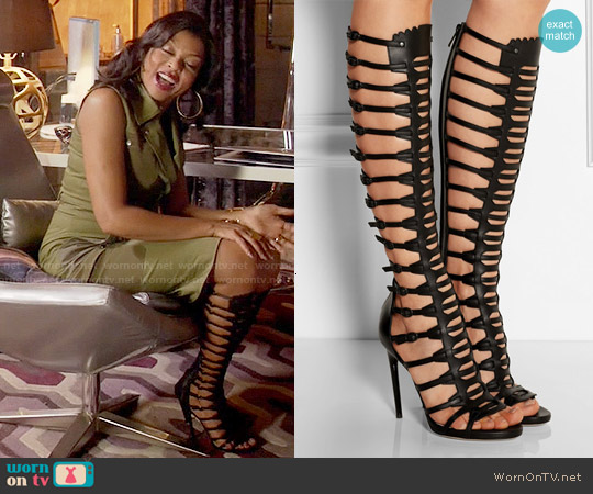 Paul Andrew Athena Leather Sandals worn by Cookie Lyon on Empire