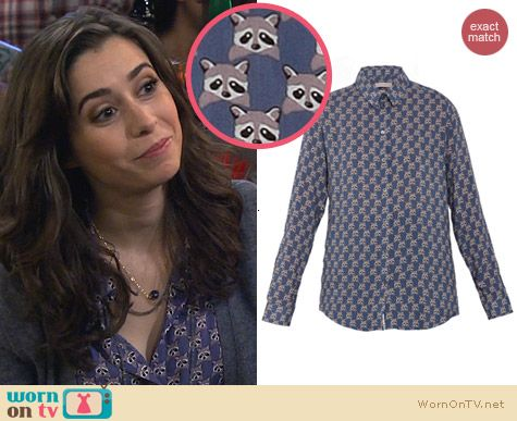 Paul & Joe Sister Raccoon Print Shirt worn by Cristin Milioti on HIMYM