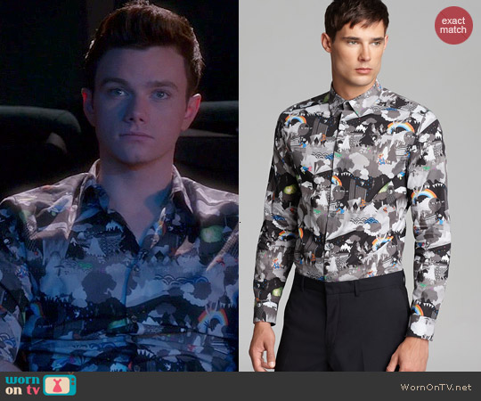 Paul Smith Beatles Button Down Shirt worn by Chris Colfer on Glee