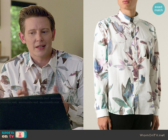 Paul Smith Leaf Print Shirt worn by Gabriel Mann on Revenge