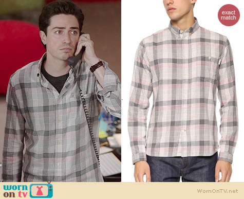 Paul Smith Plaid Shirt worn by Ben Feldman on A to Z