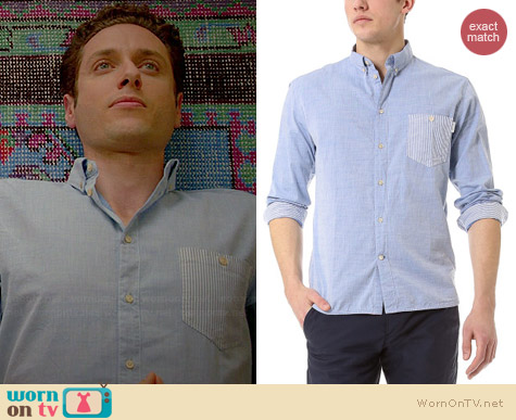Paul Smith Tailored Shirt with Contrast Pocket worn by Paulo Costanzo on Royal Pains