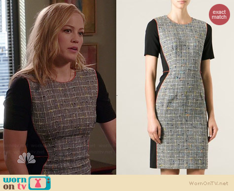 Paul Smith Tweed Panelled Dress worn by Erika Christensen on Parenthood