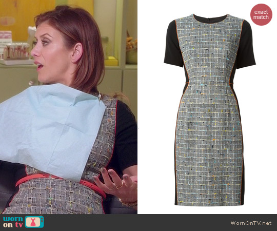 Paul Smith Tweed Panelled Dress worn by Kate Walsh on Bad Judge
