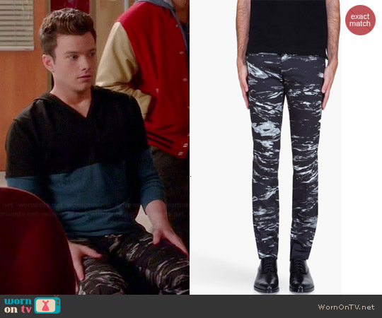Paul Smith Water Print Trousers worn by Chris Colfer on Glee