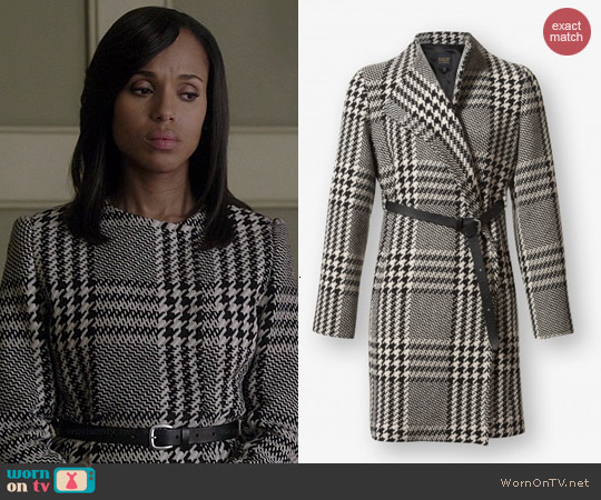 PAUW Knee Length Coat with Belt worn by Kerry Washington on Scandal