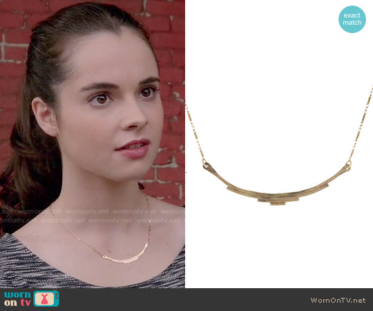 Peggy Li Deco Bar Necklace worn by Bay Kennish on Switched at Birth