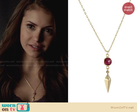 Peggy Li Compass Point Necklace worn by Nina Dobrev on The Vampire Diaries