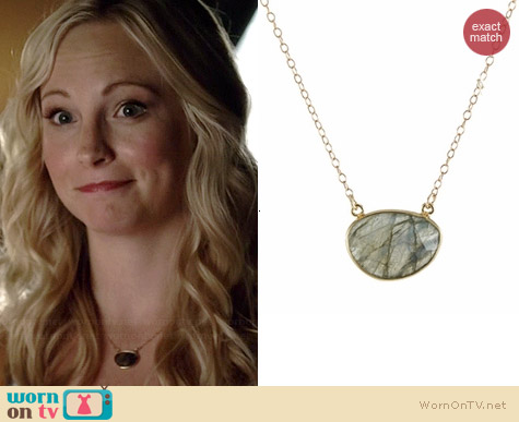 Peggy Li Gem Drop Necklace worn by Candice Accola on The Vampire Diaries