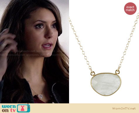 Peggy Li Gem Drop Necklace worn by Nina Dobrev on The Vampire Diaries