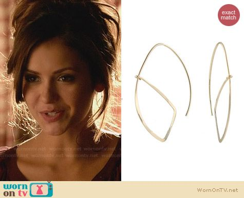 Peggy Li Open Sail Earrings worn by Nina Dobrev on The Vampire Diaries