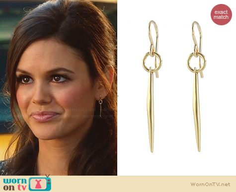 Peggy Li Small Quill Earrings worn by Rachel Bilson on Hart of Dixie