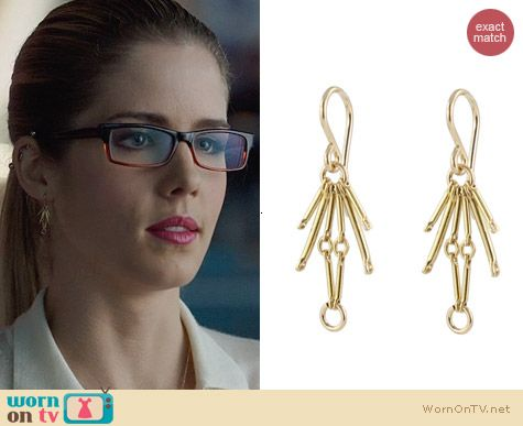 Peggy Li Spark Earrings worn by Felicity Smoak on Arrow