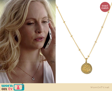 Peggy Li Tiny Omb Necklace worn by Candice Accola on The Vampire Diaries