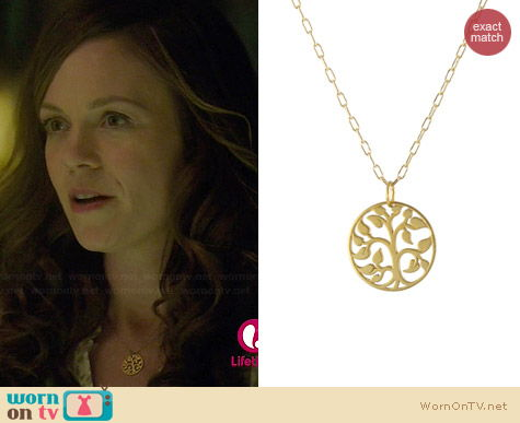 Peggy Li Tree of Life Necklace worn by Rachel Boston on Witches of East End