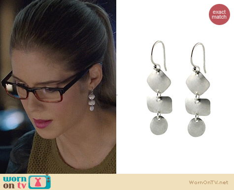 Peggy Li Windchime Earrings worn by Emily Bett Rickards on Arrow