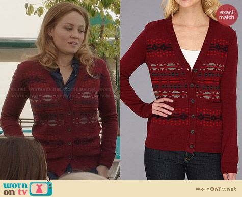 Pendleton The Portland Collection Pilot Rock Cardigan worn by Erika Christensen on Parenthood