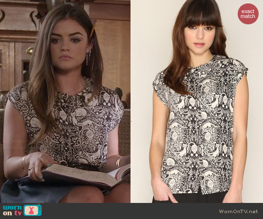 Pepa Loves Elaine Cats top worn by Lucy Hale on PLL